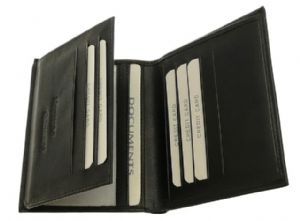 Black Mens Wallet & Credit Card Holder